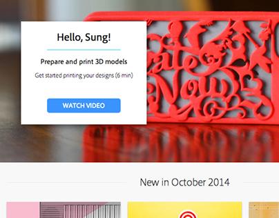Adobe - Welcome Screen