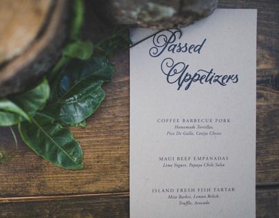 Wedding Menus & Place Cards