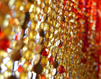 New York Hanging Sculpture Beaded Curtain