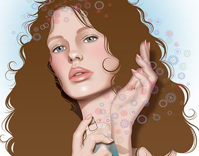 """""""Perfume"""" digital illustration"""