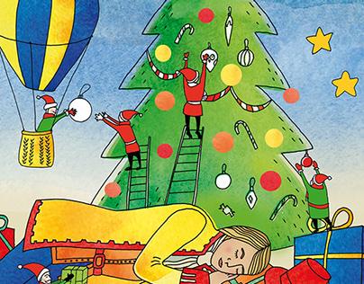 Illustration for Christmas greeting card