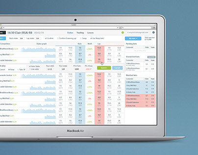 UI design for betting app