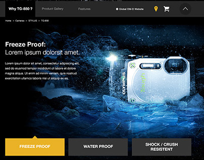Olympus - Stylus TG 850 - Productpage