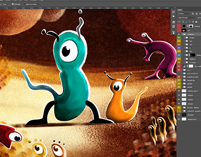 Illustration to 2.5D (PS-to-C4D), incl. Making-of