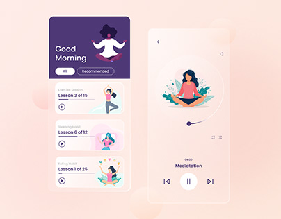 Mind Wellness Concept app design