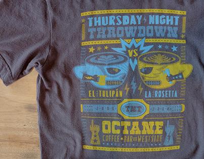 Octane Coffee - Thursday Night Throwdown 8th Anniv. Tee