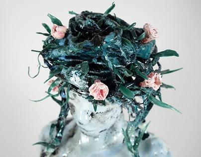 Daphné métamorphosée en laurier-rose