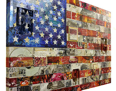 Commissioned Flag Collage:  Meeting Places