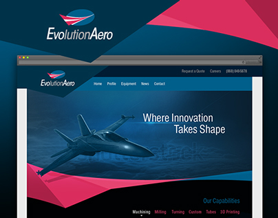 EvolutionAero Website Design