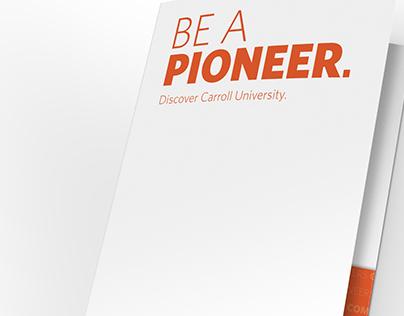 Carroll University Admissions Pocket Folder