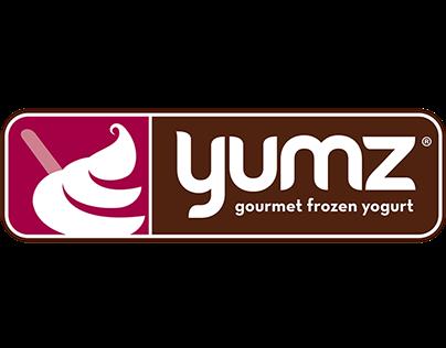 Yumz Gourmet Frozen Yogurt Branding