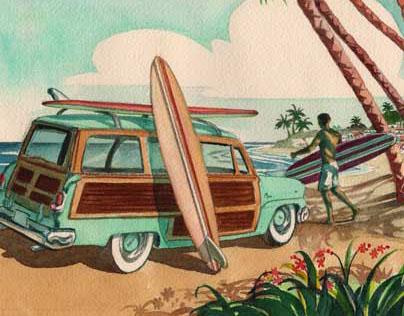 Vintage Beach Series