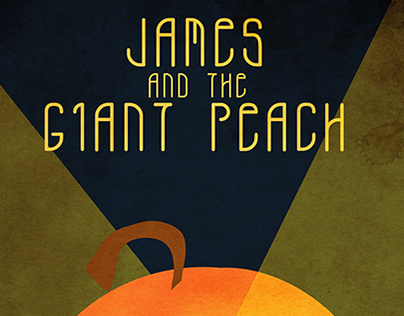 James and The Giant Peach Art Deco Poster