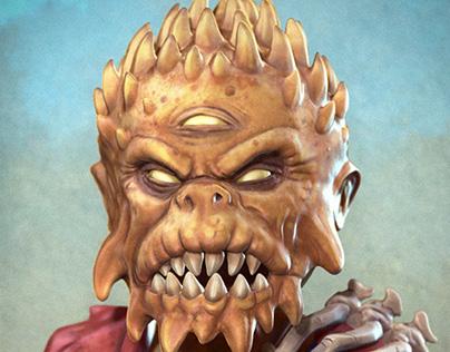 Mutant King Bobble Head