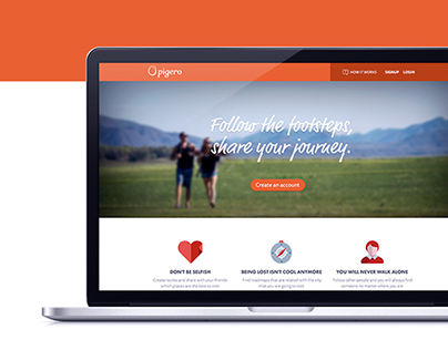 Pigero - social network website design