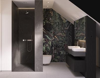 In the jungle | bathroom |interior design