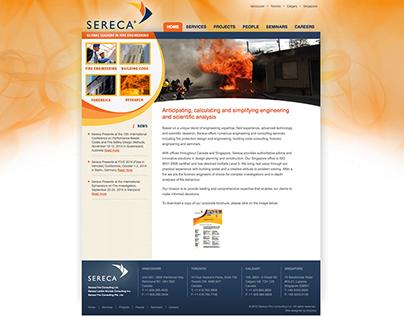 Sereca Fire Website