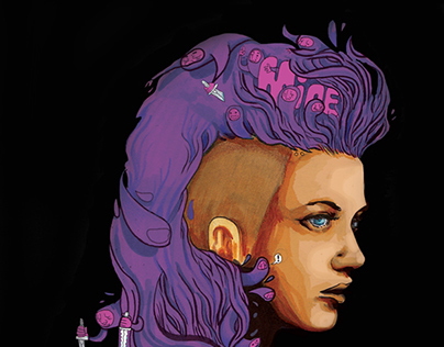 Bang!n' Hair-Do: Sketch #2 (purple)