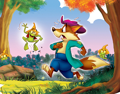 The wolf and the Frog Tale