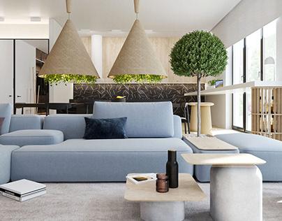 Interior Design of apartment in Toronto Canada