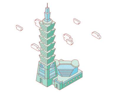 Taiwan Spots Map | Website Illustration