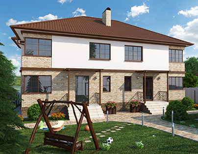 Town house for two families