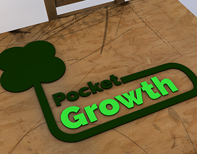 Pocket Growth Logo and Icon Design