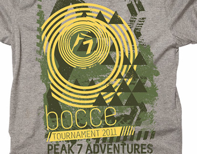 Bocce Tournament T-shirt Design for Peak 7 Adventures