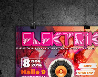 ELEKTRIK Posters & Flyers - Print Media