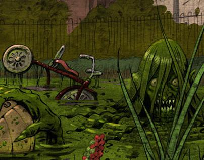 Ginny Greenteeth: Witch/Pond-Hag Editorial Illustration