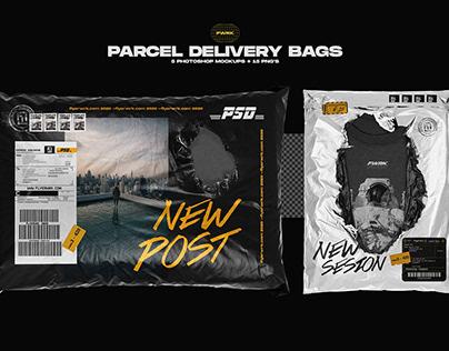 Parcel Delivery Bag Mockups