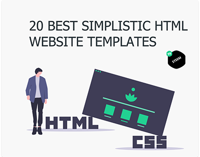 20 Best simplistic Website Templates built with HTML