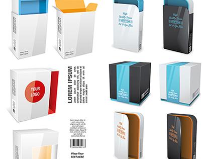 Boxes. Free AI+eps vector mockup