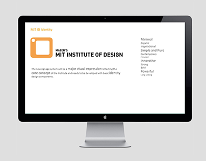 Way-finding Systems for MIT Institute of Design