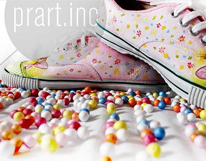 fairy walk_Handpainted customized shoes