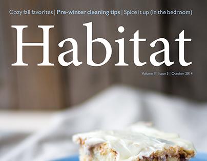 Habitat Magazine - Cover and Layout