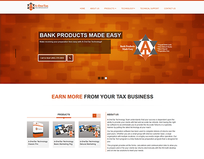 A-OneTax Technology Web Site Build