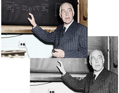 Colorisation of a monochrome photograph, Niels Bohr