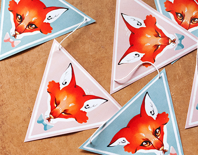 Foxes (Paper garland)
