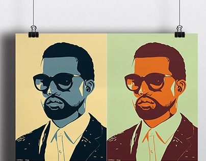 Kanye West Greatest Hits Pop Art Poster Collection