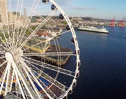 Seattle Ferris Wheel by Drone