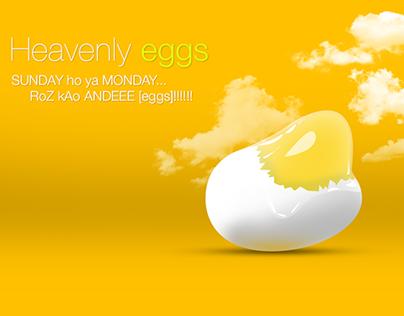 Heavenly-Egg Advertising Illustration  in Photoshop CC