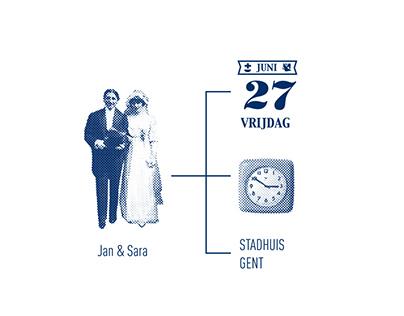 Wedding Sara & Jan - 2014