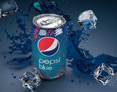 3D Pepsi Blue Can - Advertising Imagery