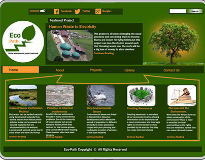 Eco_path web  design concepts