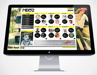 NEO 2 magazine website