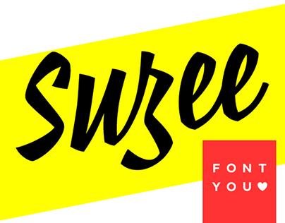 Suzee FY — fresh brush script font