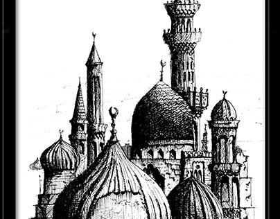 Cairo minarets and domes