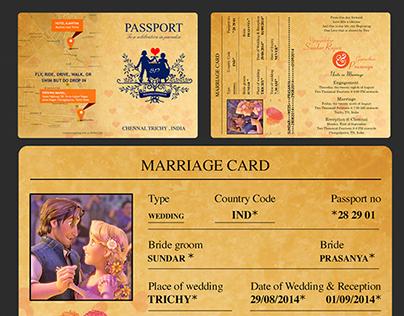 Passport Wedding Cards