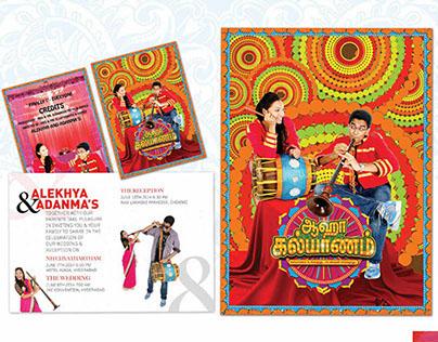 Ahaa Kalayanam Themed Wedding Cards